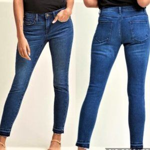 Modcloth At Waist Crop Skinny Jeans Raw Hem